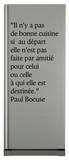 Il n y a pas de bonne cuisine… Autocollant par Paul Bocuse