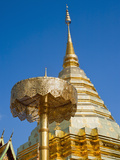 Wat Doi Suthep Gold Leaf Stupa, a Buddhist Temple in Chiang Mai, Thailand, Southeast Asia, Asia Photographic Print by Matthew Williams-Ellis