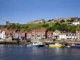 Boats in the Upper Harbour Below St. Marys Church, Whitby, North Yorkshire, Yorkshire, England, UK Photographic Print by Mark Sunderland