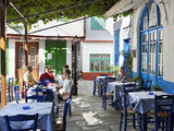 Greek Taverna in Centre of Mountain Village, Vourliotes, Samos, Aegean Islands, Greece Photographic Print by Stuart Black