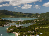 English Harbour and Falmouth Harbour, Antigua, Leeward Islands, West Indies, Caribbean Photographic Print by Sergio Pitamitz
