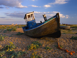Wrecked Fishing Boat on Shingle Beach, Dungeness, Kent, England, United Kingdom, Europe Photographic Print by Stuart Black