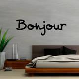 Bonjour (sticker murale) Decalcomania da muro