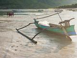 Fishing Boat Lying on Kuta Beach, Kuta Lombok, Indonesia, Southeast Asia, Asia Photographic Print by Matthew Williams-Ellis