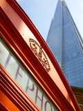 Red Telephone Box and the Shard, London, England, United Kingdom, Europe Photographic Print by Frank Fell