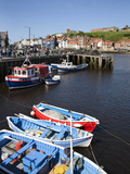Fising Boats in the Upper Harbour, Whitby, North Yorkshire, Yorkshire, England, UK, Europe Photographic Print by Mark Sunderland