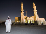 Imam Posing in Front of His New Mosque, Dubai, United Arab Emirates Photographic Print by Antonio Busiello