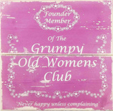 Grumpy Old Womens Club Cartel de madera