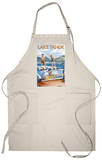 Lake Tahoe, California - Water Skiing Scene Apron Apron