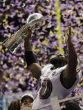 Super Bowl XLVII: Ravens vs 49ers - Ed Reed Fotografisk trykk av Matt Slocum