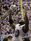Super Bowl XLVII: Ravens vs 49ers - Ed Reed Photographic Print by Matt Slocum