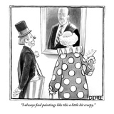 """""""I always find paintings like this a little bit creepy."""" - New Yorker Cartoon Premium Giclee Print by Matthew Diffee"""