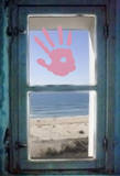 L'Empreinte de Main Naklejka na okno