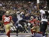 Super Bowl XLVII: Ravens vs 49ers - Anquan Boldin Fotografisk trykk av Matt Slocum