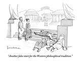 """Another false start for the Western philosophical tradition."" - New Yorker Cartoon Premium Giclee Print by David Borchart"