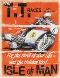 TT Races Cartel de madera