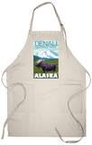 Moose Scene, Denali National Park, Alaska Apron Apron