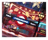 London Underground Winter before Christmas Premium Giclee Print by Markus Bleichner