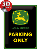 John Deere Parking Only Plakietka emaliowana