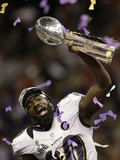Super Bowl XLVII: Ravens vs 49ers - Ed Reed Photographic Print by Gene Puskar