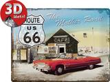 Route 66 The Mother Road Plakietka emaliowana