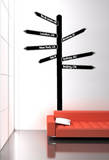 Le Panneau de Direction Wall Decal
