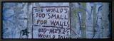Graffiti on a Wall, Berlin Wall, Berlin, Germany Ingelijste canvasdruk van Panoramic Images,