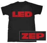 Led Zeppelin - Red Logo Tshirts