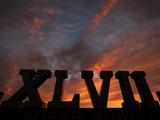 Super Bowl XLVII: Ravens vs 49ers - Sunset Photographic Print by Charlie Riedel