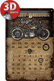 Harley-Davidson Brick Wall Kalender Tin Sign