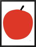 Red Apple Ingelijste canvasdruk van  Avalisa