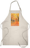 Vermont, Fall Colors Scene Apron Apron