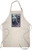 Yosemite National Park, Ca - Black Bears in Treee, c.2009 Apron Apron