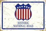 Historic National Road Blechschild