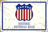 Historic National Road - Metal Tabela