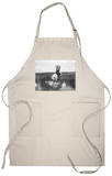 Cheyenne Indian, Wearing Headdress, on Horseback Photograph Apron Apron