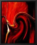 Luscious Red Innrammet lerretstrykk av Ruth Palmer 2