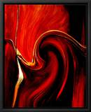 Luscious Red Leinwandtransfer mit Rahmung von Ruth Palmer 2