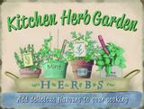 Kitchen Herb Garden Plakietka emaliowana
