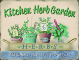 Kitchen Herb Garden - Metal Tabela