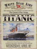 Titanic Znak drewniany