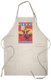 Texas, The Lone Star State, Longhorn Bull Apron Apron