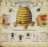 Beekeeping Cartel de madera