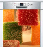 Lave Vaisselle Pates de Fruit Autocollant