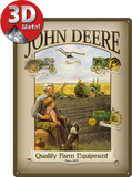 John Deere Grandfather - Metal Tabela