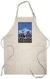 Mountain Bike in Snow - Portland, Oregon Apron Apron