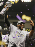Super Bowl XLVII: Ravens vs 49ers - Ray Lewis Photographic Print by Dave Martin