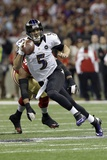 Super Bowl XLVII: Ravens vs 49ers - Joe Flacco Photographic Print by Dave Martin