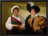 The Fortune Teller, circa 1596-97 Leinwandtransfer mit Rahmung von  Caravaggio
