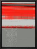 Abstract Red 1 Leinwandtransfer mit Rahmung von  NaxArt